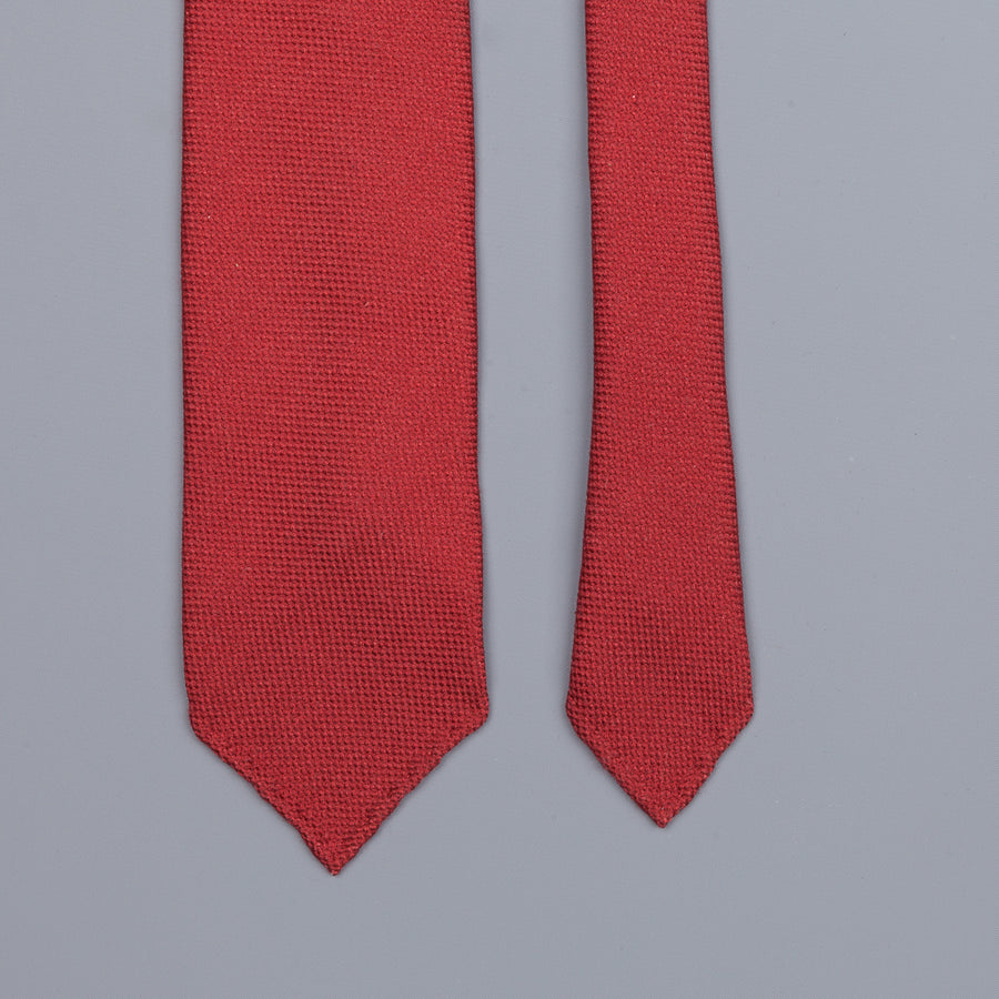 Drake´s untipped tie wool/cashmere/silk blend wine