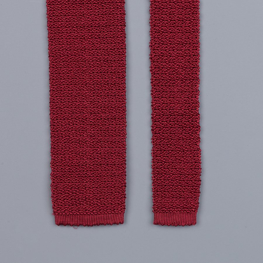 Drake´s silk knitted tie wine