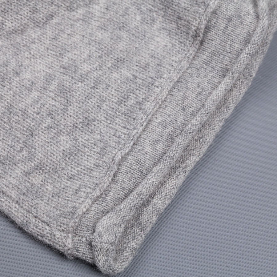 James Perse Lightweight Cashmere V Neck heather grey