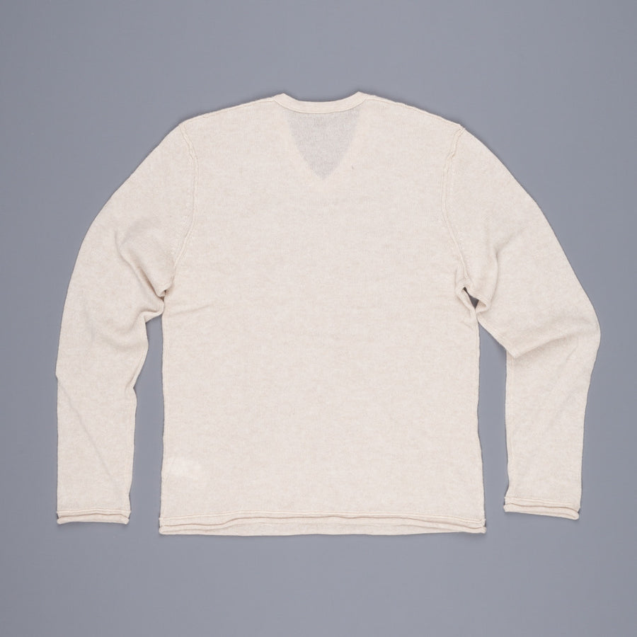 James Perse Lightweight Cashmere V Neck wheat