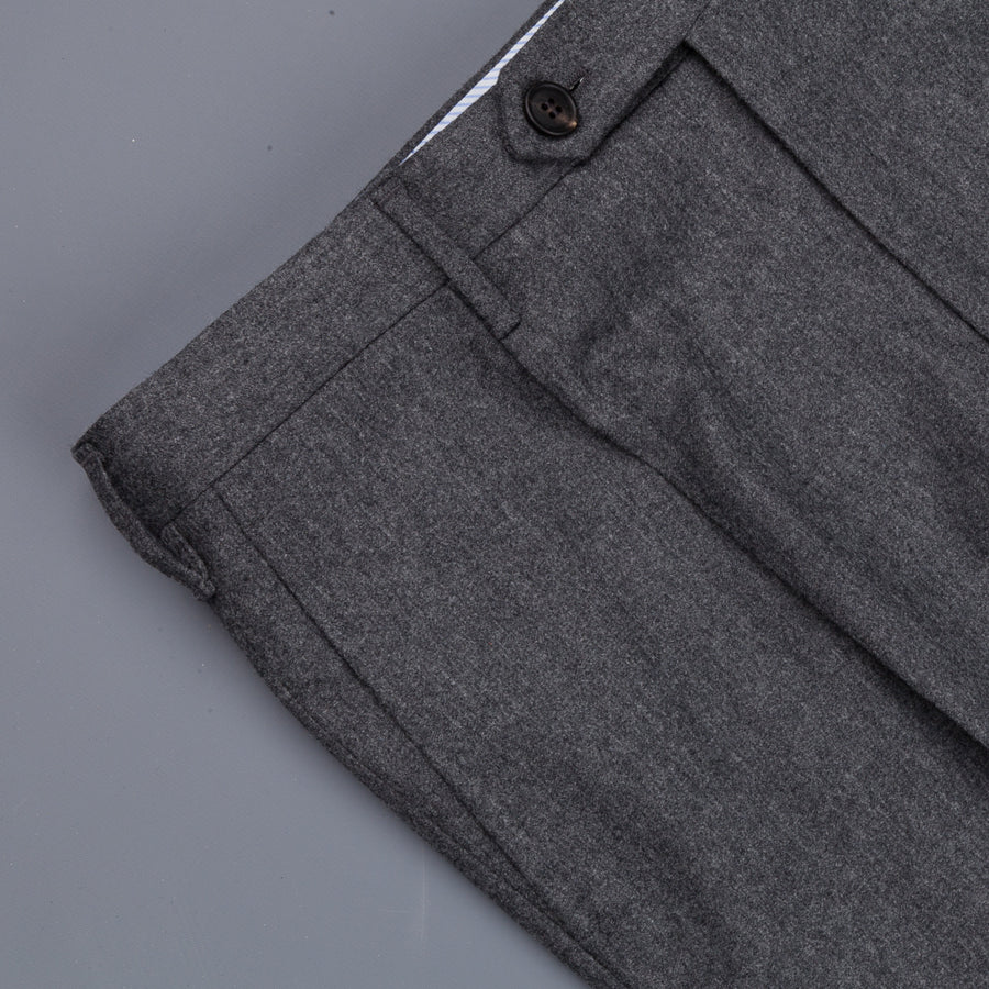 Rota Pantaloni High Rise Regular Fit Lightweight Flannel Grigio Scuro