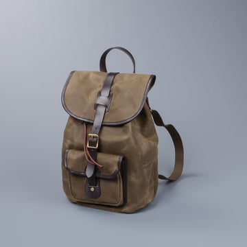 Re-Stock! Croots Drawstring rucksack Waxed Olive
