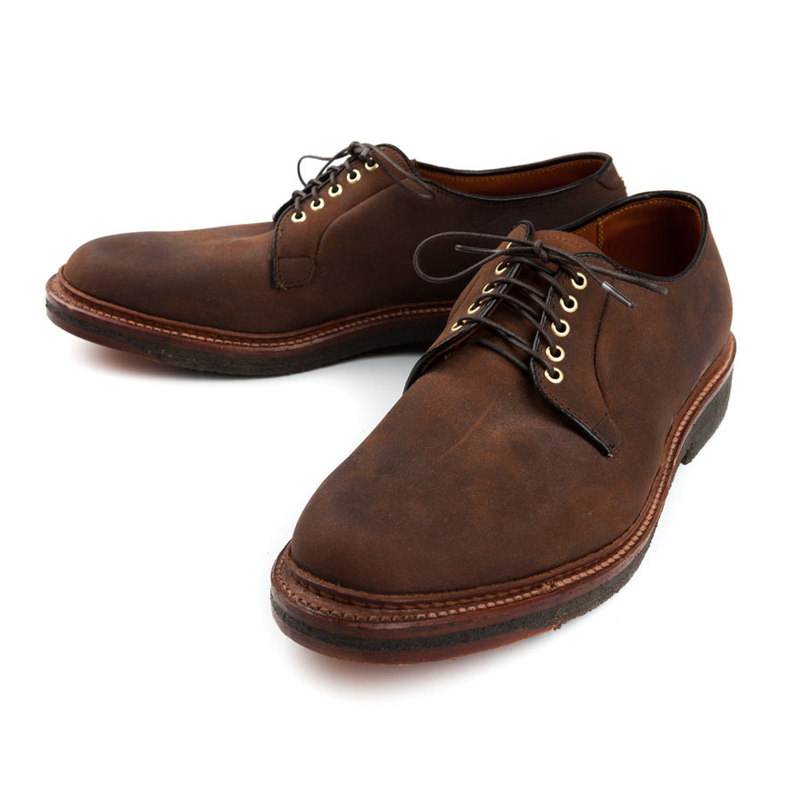Alden plain toe in tabacco chamois leather
