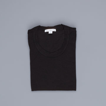 James Perse Women Sheer Slub Crew Neck Tee Black