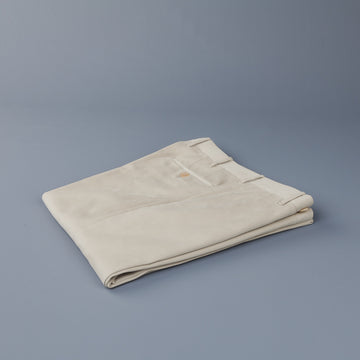 Rota Pantaloni High Rise Regular Fit Mid Weight Cotton Gabardine Beige Chiaro