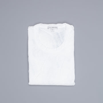 James Perse Women Sheer Slub Crew Neck Tee White