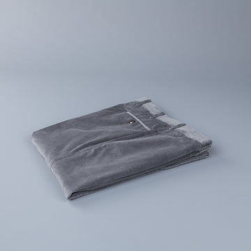 Rota Pantaloni High Rise Regular Fit 14-Wale Corduroy Stretch Grigio