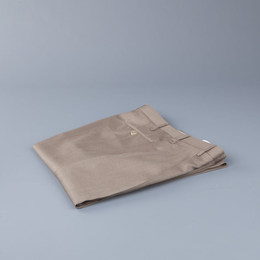 Rota Pantaloni High Rise Regular Fit Cavalry Twill Beige Scuro