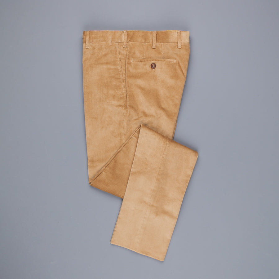 Rota Pantaloni High Rise Regular Fit 14-Wale Corduroy Stretch Beige Scuro