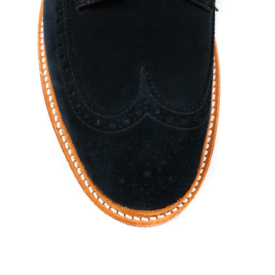 Alden x FransBoone blue suede longwing