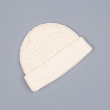 Aspesi Ribbed Cashmere Hat Off White