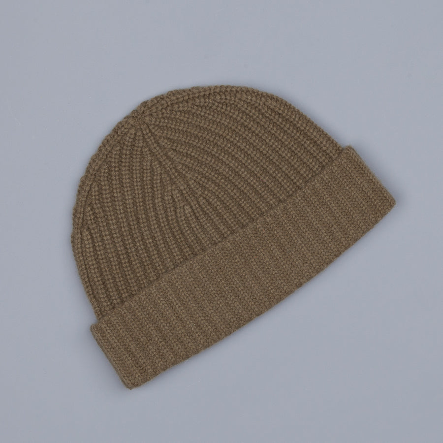 Aspesi Ribbed Cashmere Hat Military Green