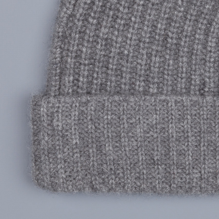 Aspesi Ribbed Cashmere Hat Grey