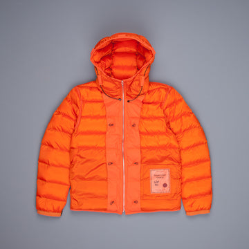 Ten C Hooded Down Liner with pockets Orange Frans Boone Exclusive