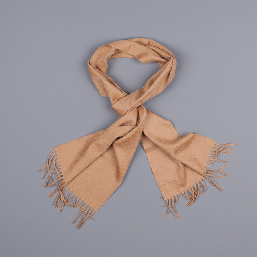 Drakes cashmere scarf sand
