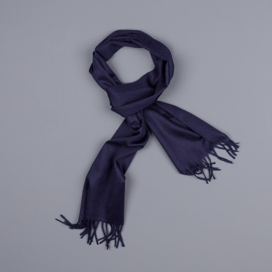 Drakes cashmere scarf navy