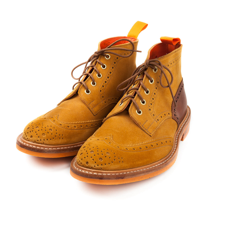 Trickers for Frans Boone two tone brogue boot leather heel