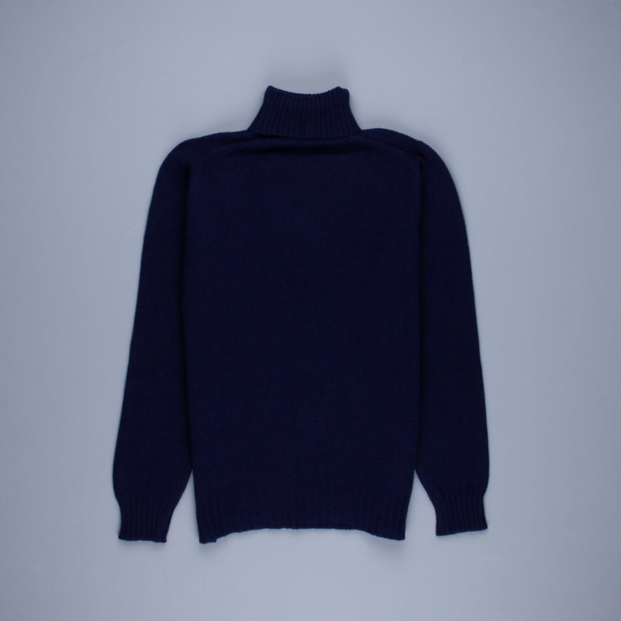 William Lockie Gullan Super Geelong Roll Neck Dark Navy