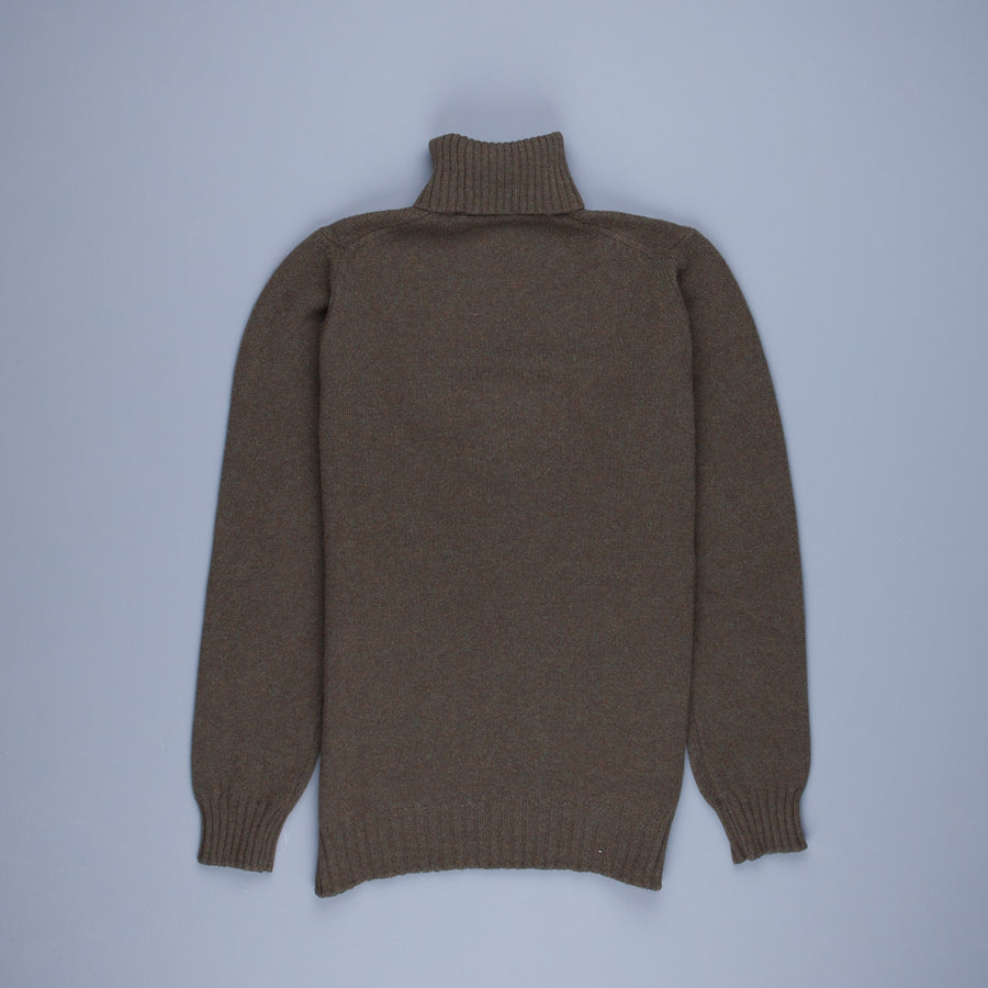 William Lockie Gullan Super Geelong Roll Neck Bayleaf