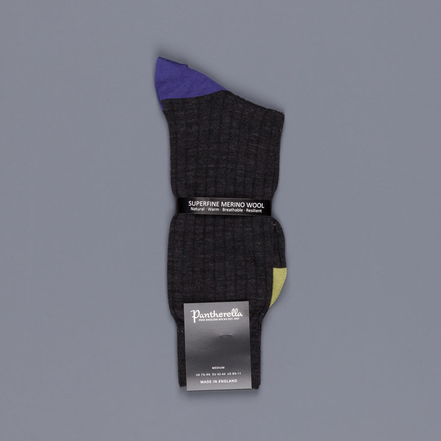 Pantherella Stratford merino wool socks charcoal