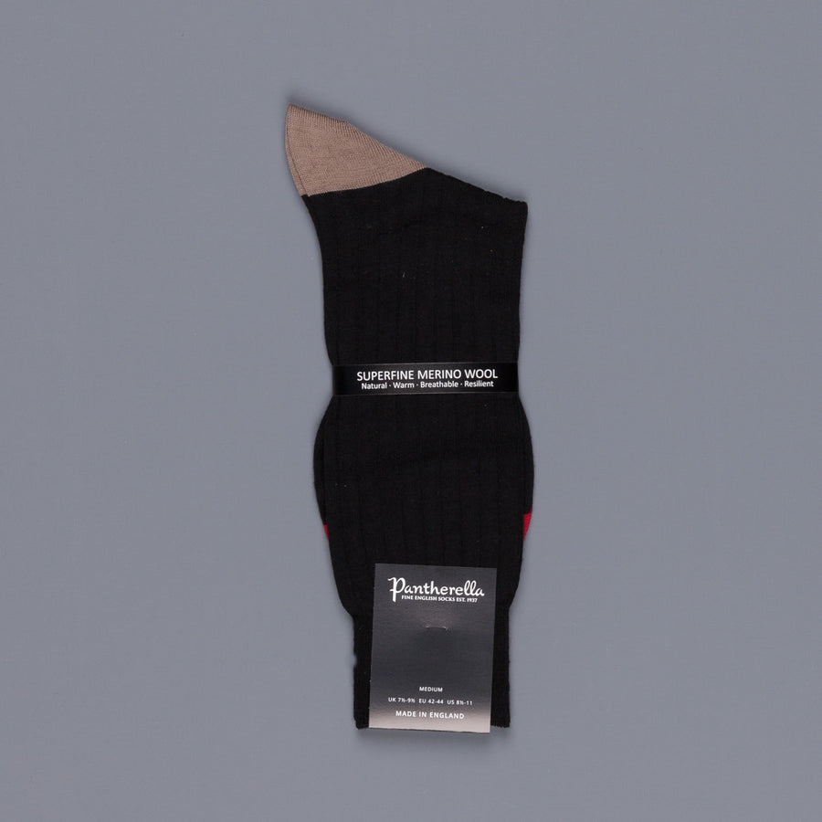 Pantherella Stratford merino wool socks black