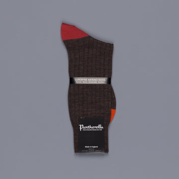 Pantherella Stratford merino wool socks dark brown