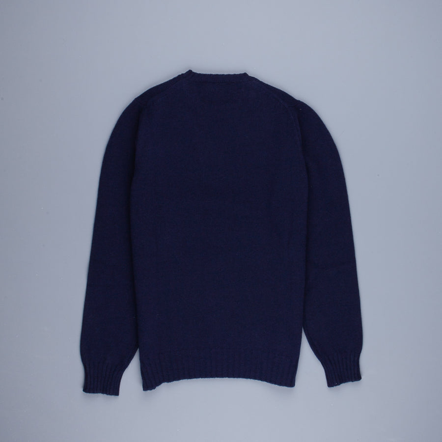 William Lockie Gullan Super Geelong Crew Neck Dark Navy