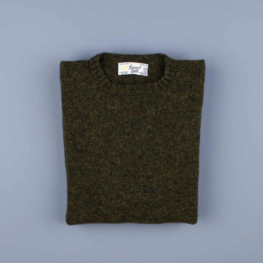 Laurence J. Smith Super Soft Seamless Crew Neck Pullover Pineshadow