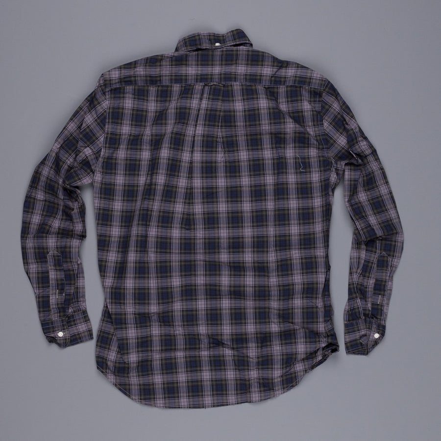 Gitman Vintage cotton overdyed tartan