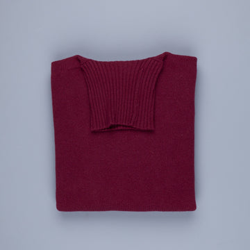 William Lockie Gullan Super Geelong Roll Neck Damson