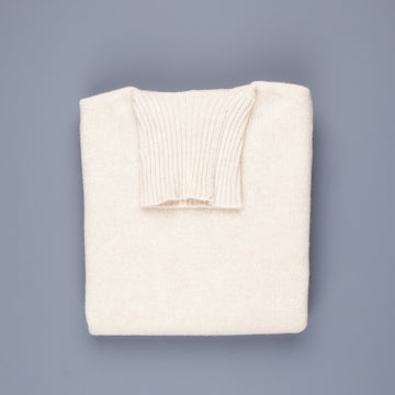 William Lockie Gullan Super Geelong Roll Neck Ivory