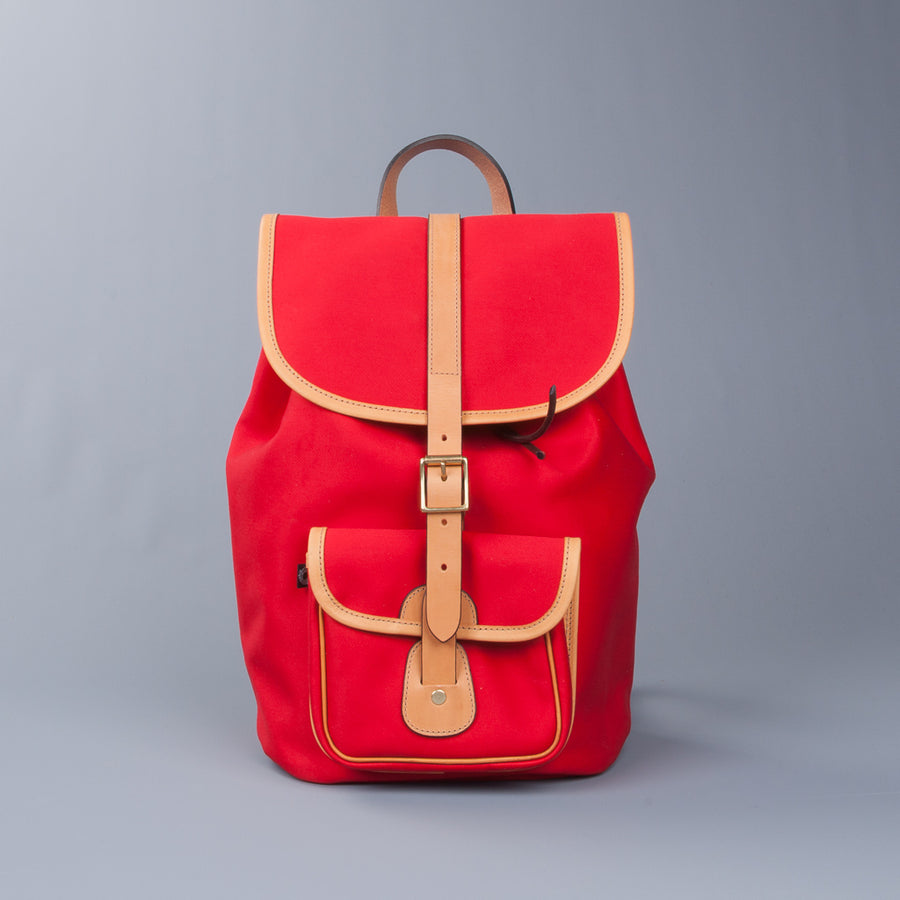 Croots X Frans Boone Dalby Canvas Drawstring Rucksack Red