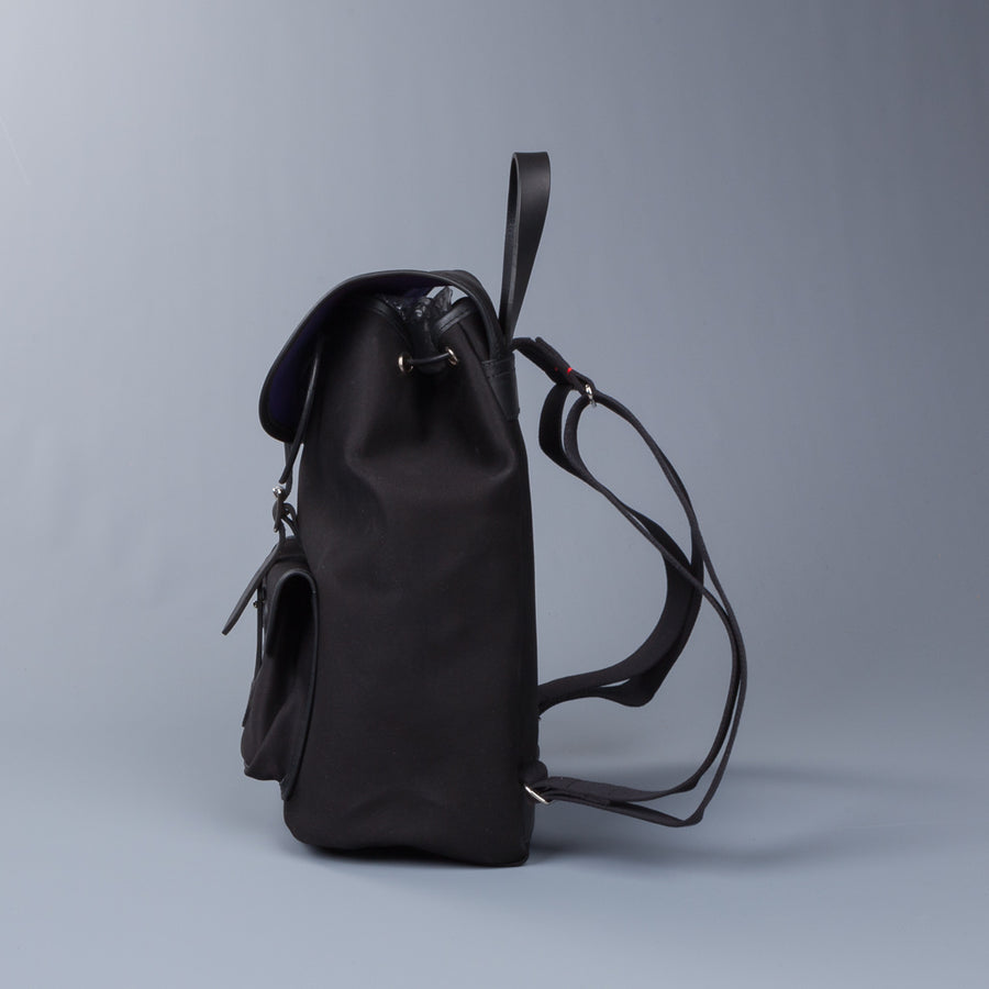 Croots X Frans Boone Dalby Canvas Drawstring Rucksack Black