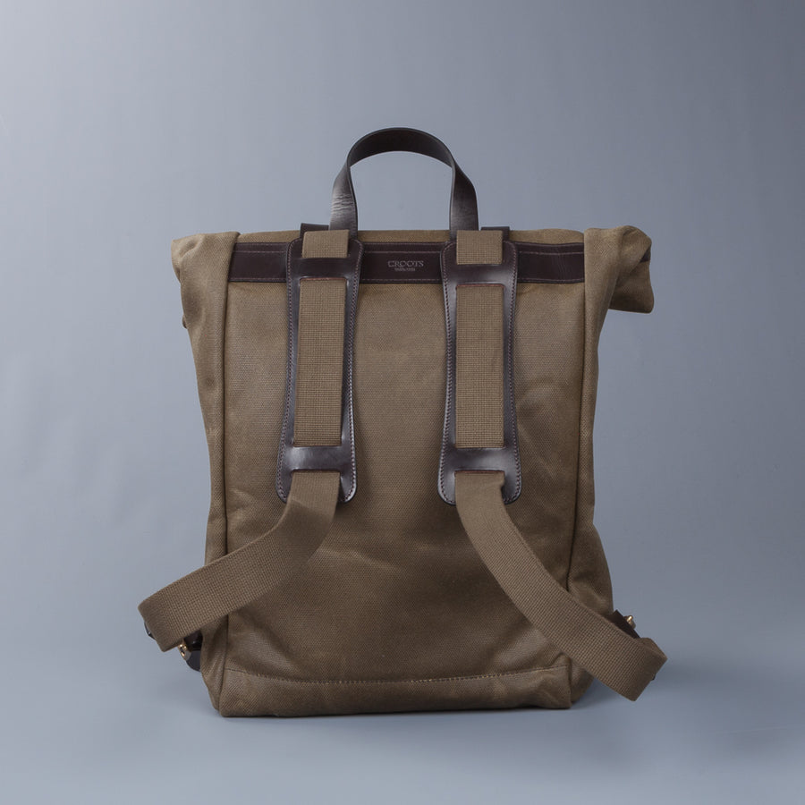 Croots X Frans Boone Canvas Rolltop Backpack Olive