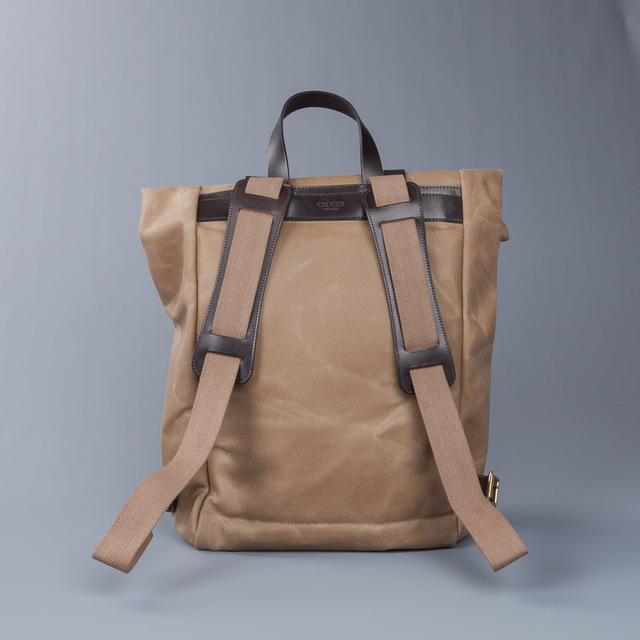 Croots X Frans Boone Canvas Rolltop Backpack Sand