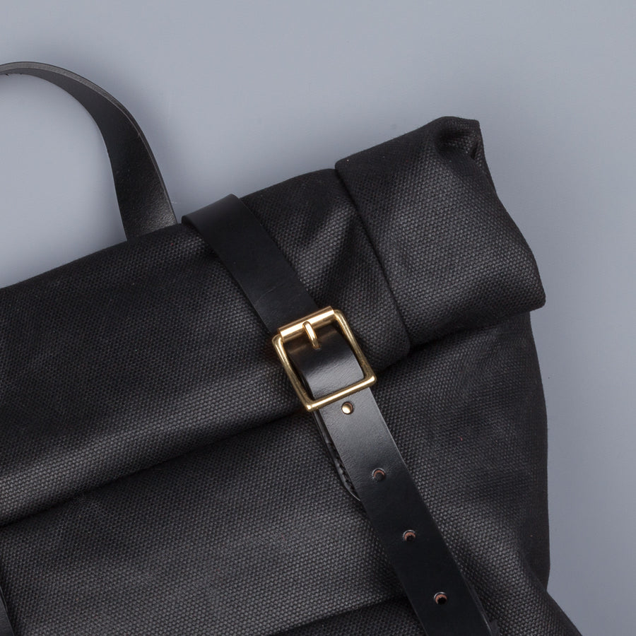 Croots X Frans Boone Canvas Rolltop Backpack Black