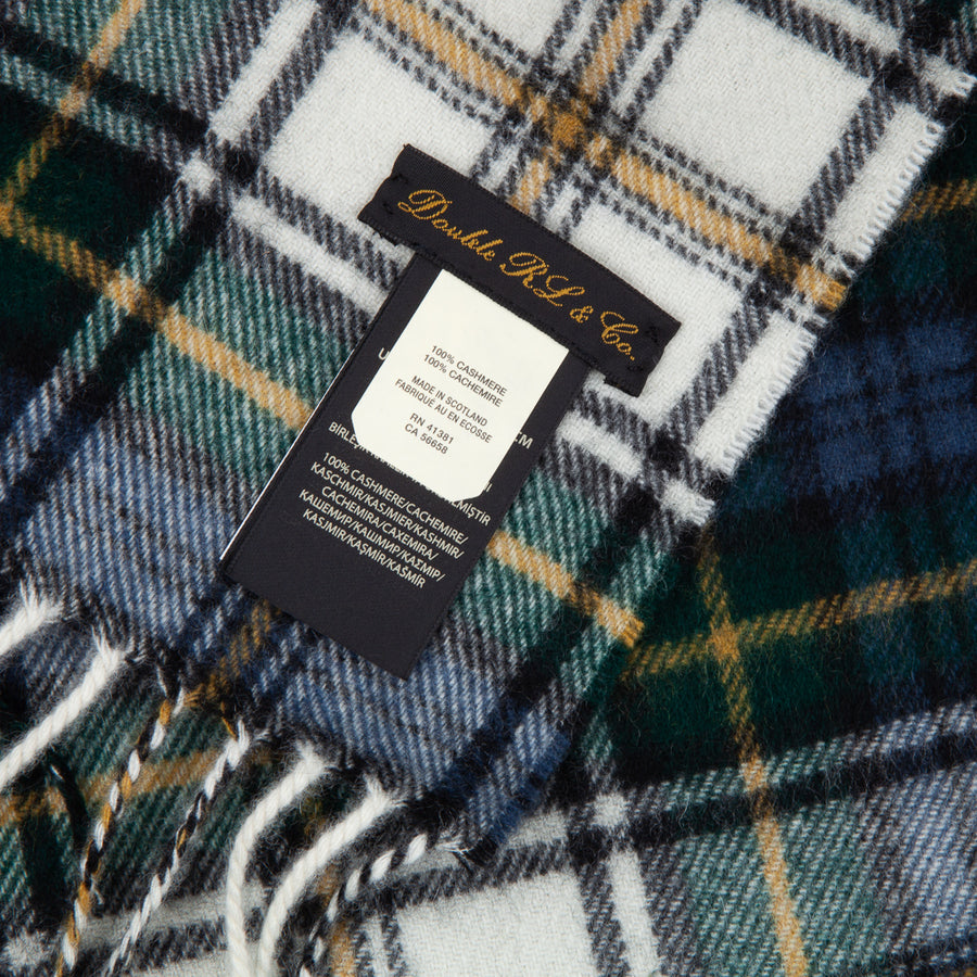 RRL Gordon Cashmere Scarf Plaid Multi