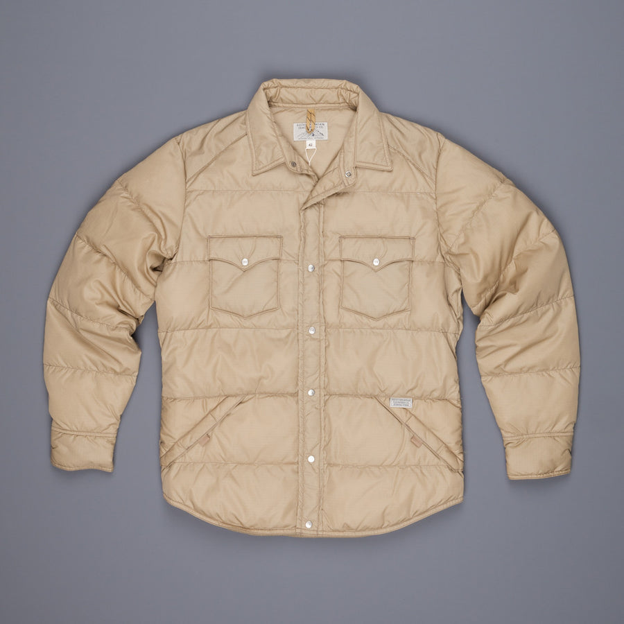 Rocky Mountain Featherbed six r/s down shirt camel