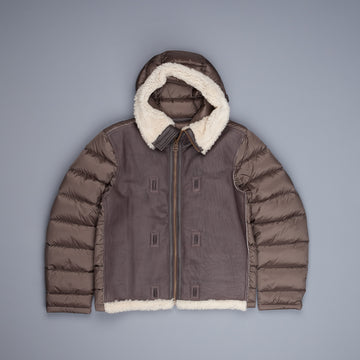 Ten C Shearling hooded Liner Bianco garza