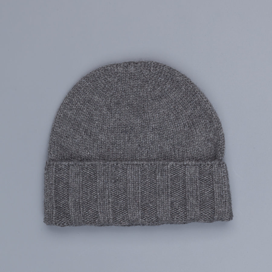 Drumohr Ribbed Cashmere Hat Dark Grey