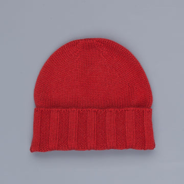 Drumohr Ribbed Cashmere Hat Red