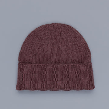 Drumohr Ribbed Cashmere Hat Chestnut Brown
