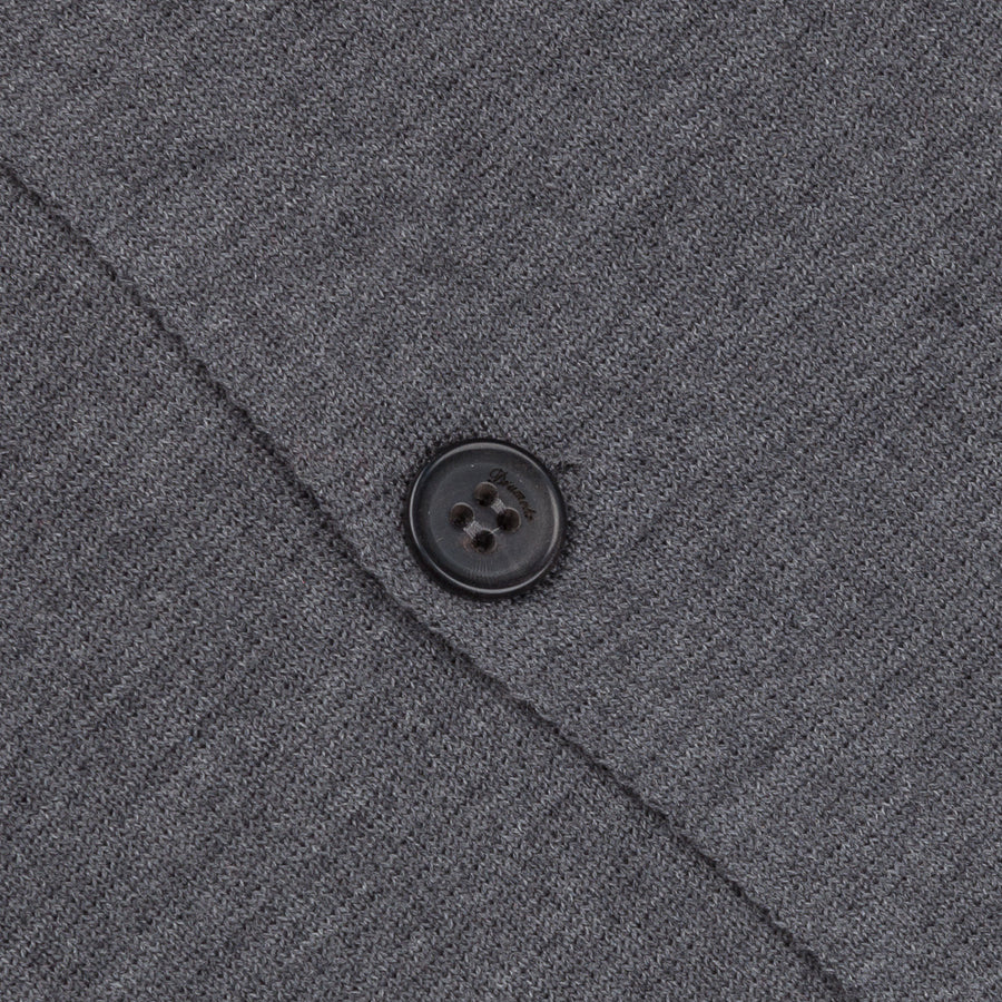 Drumohr Knitted Jacket Merino Wool Dark Grey