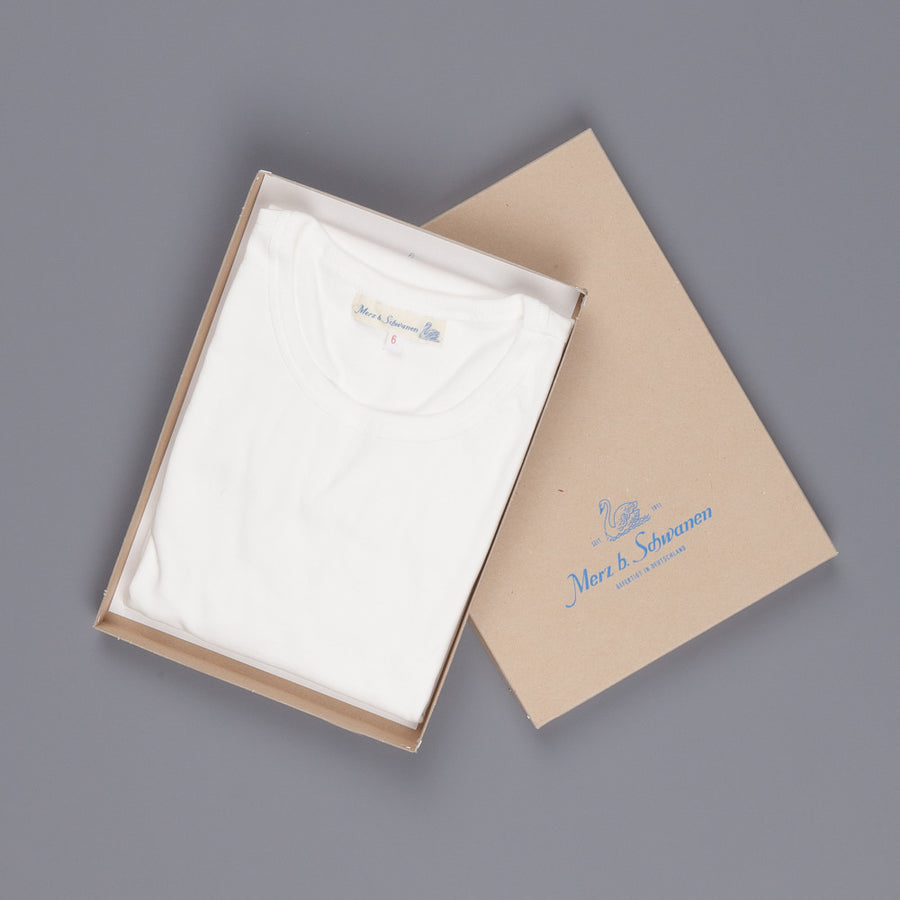 Merz B. Schwanen 215 t shirt 1/4 Open Sleeve White
