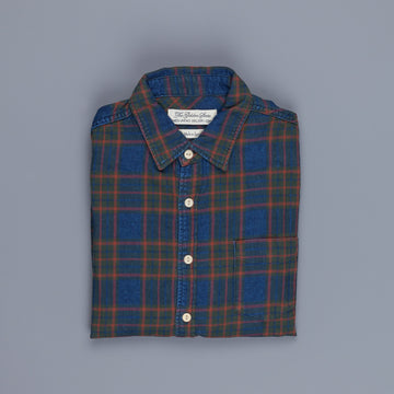 Remi Relief Indigo Checkered Flannel Shirt Green