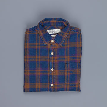 Remi Relief Indigo Checkered Flannel Shirt Brown