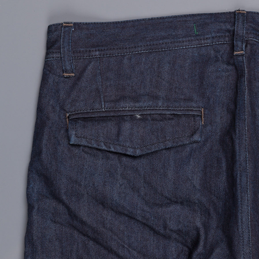 Scartilab model 126 pants in selfedge cotton cashmere denim