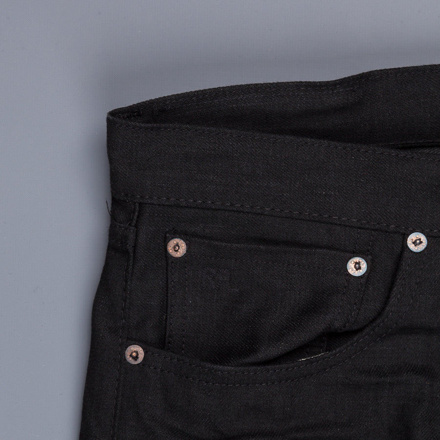 RRL Slim Fit 5 Pocket New Black On Black
