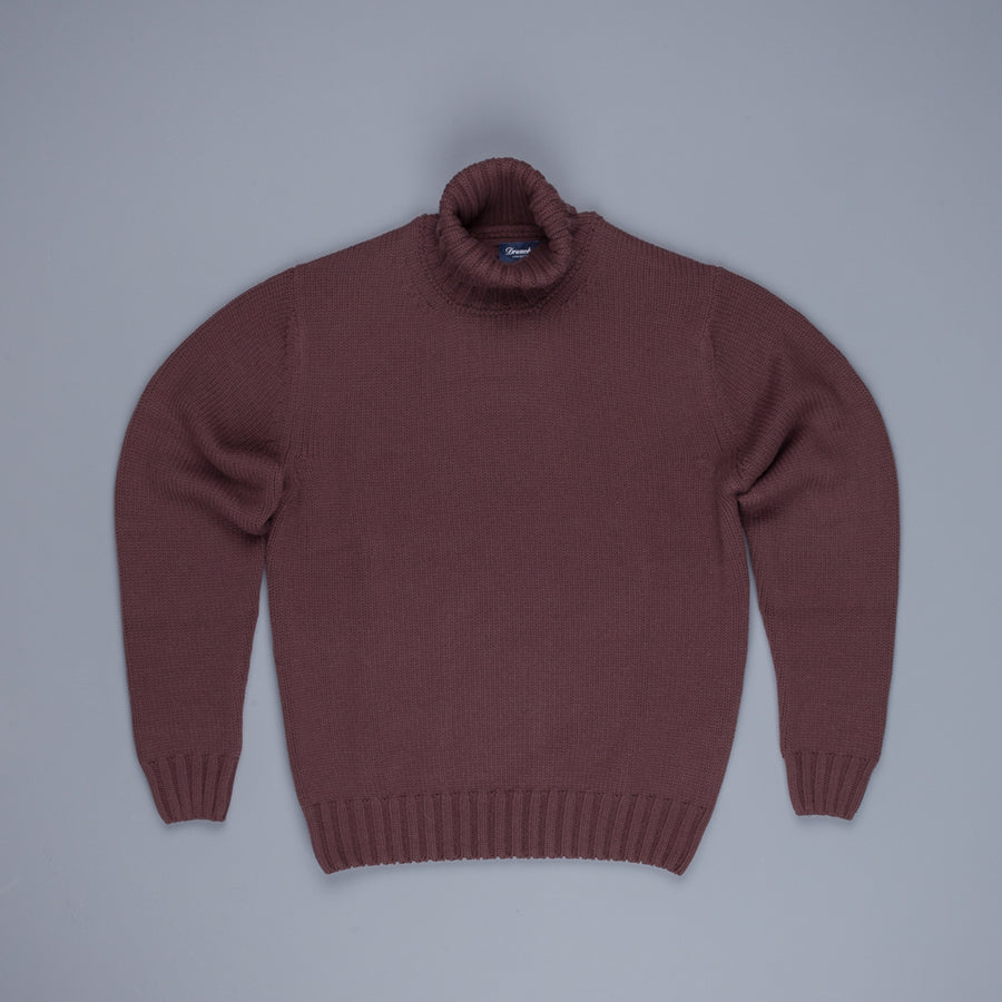Drumohr Cashmere Dolcevita Turtleneck Chestnut Brown