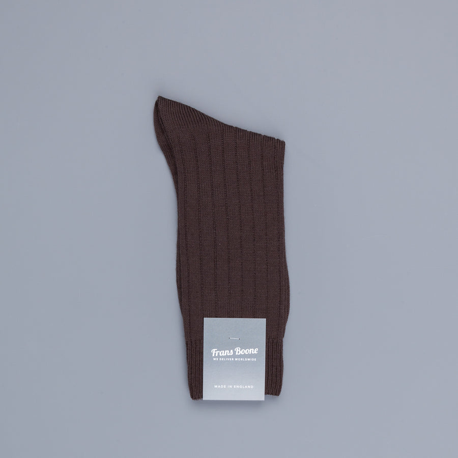 Pantherella Packington Merino wool socks Dark Brown